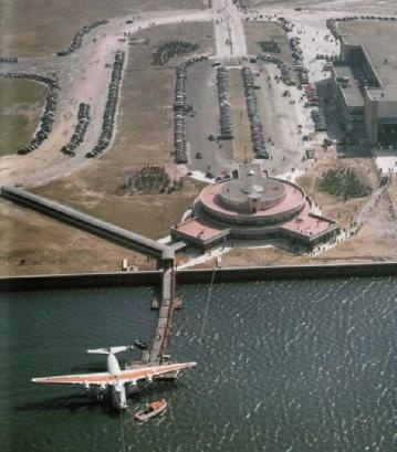 La Guardia Airport Marine Terminal with a Pan-Am Boeing B-314