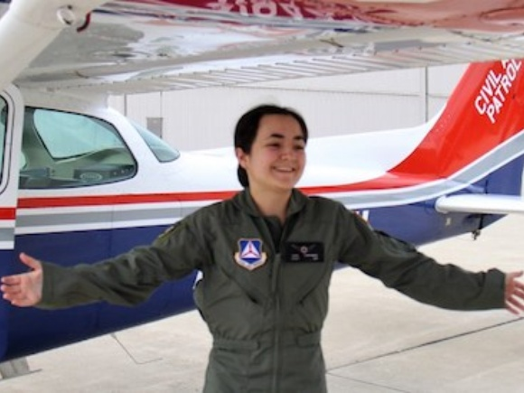 2 millionth Young Eagle solos Jodie Gawthrop