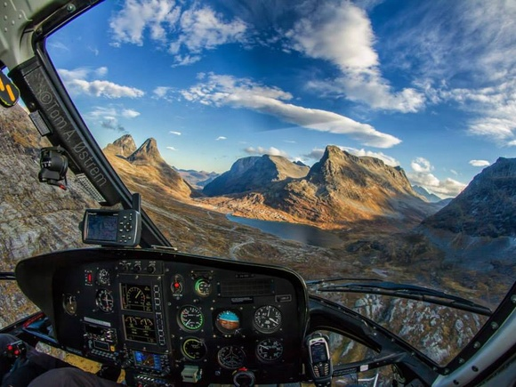 My office, by pilot and photographer Tom Andreas Ostrem