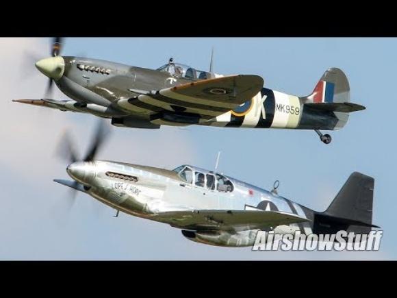 Mustang vs. Spitfire Aerobatics - EAA AirVenture Oshkosh 2019