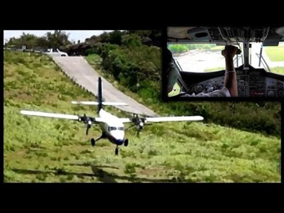 Crazy!! Landings & Takeoffs at Saint Barthélemy Airport (with Cockpit views) Full HD1080p