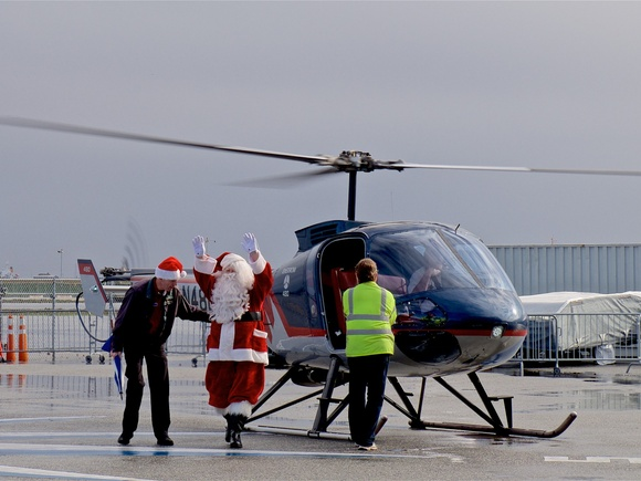 A different way for Santa to fly
