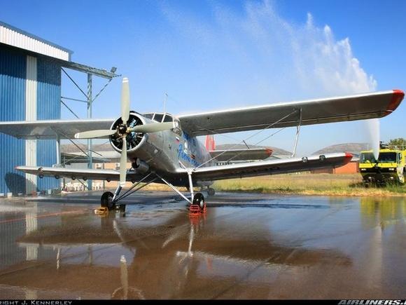 Antonov (PZL-Mielec) An-2R ZU-JLM under the shower...