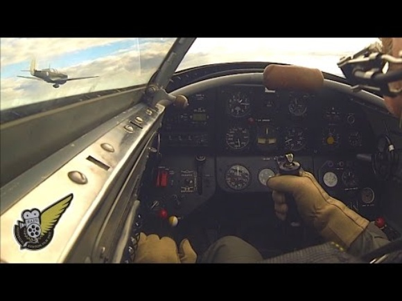 WW2 Yak3 Fighter - In Cockpit During Airfield Attack