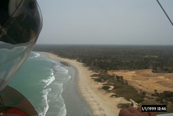 Flying along the West Coast of Africa - Gambia