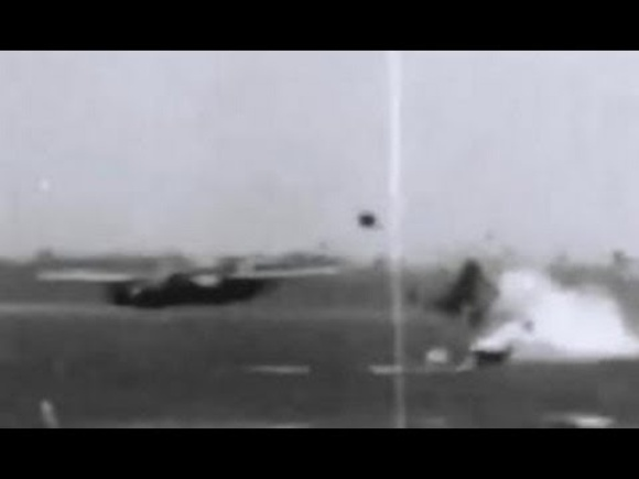 WW2 bomber torn apart from bomb