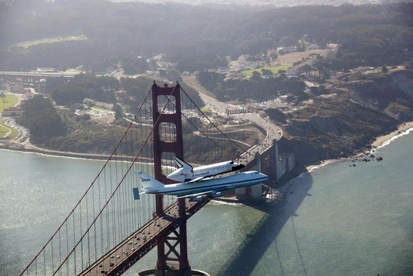Above the Golden Gate...