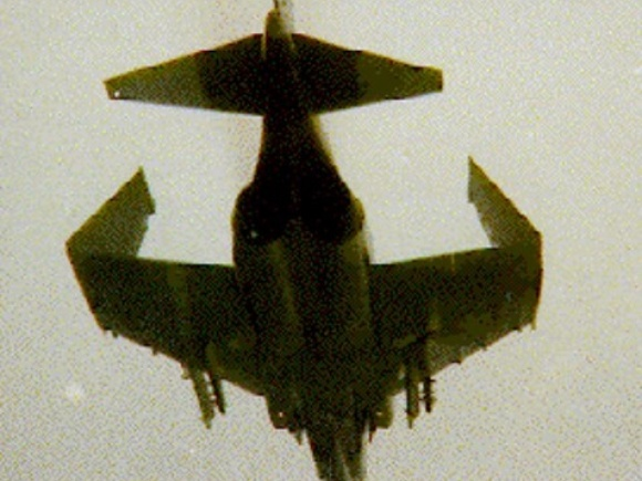 Phantom II incidentally flying with outboard wings folded