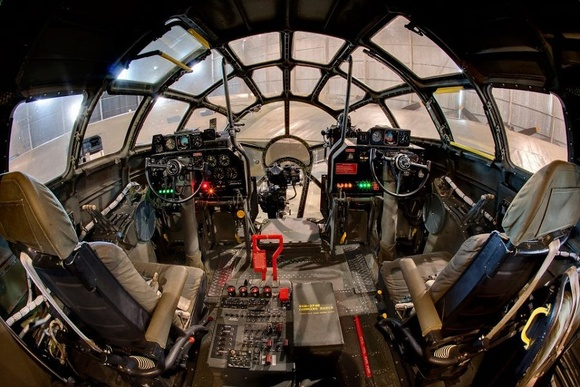 B 29 Inside Photo - B-29 cockpit |...
