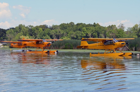 Cubs at the EAA Seaplane Base in Oshkosh