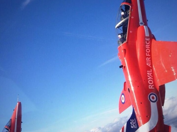 A new tailfin for the Red Arrows