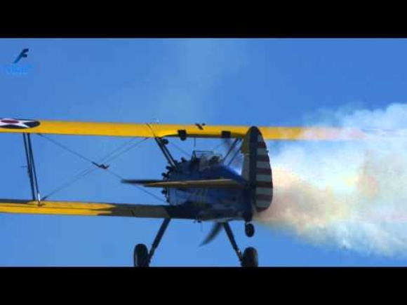 Boeing Stearman PT 17 Aerobatics Biplane at Fly Party 2014 in Montagnana - Ultra HD 4K