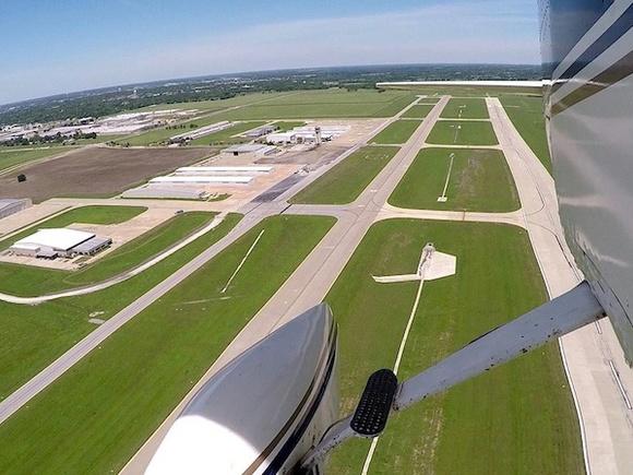 The runway behind me…