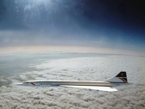 Concorde flying at Mach 2