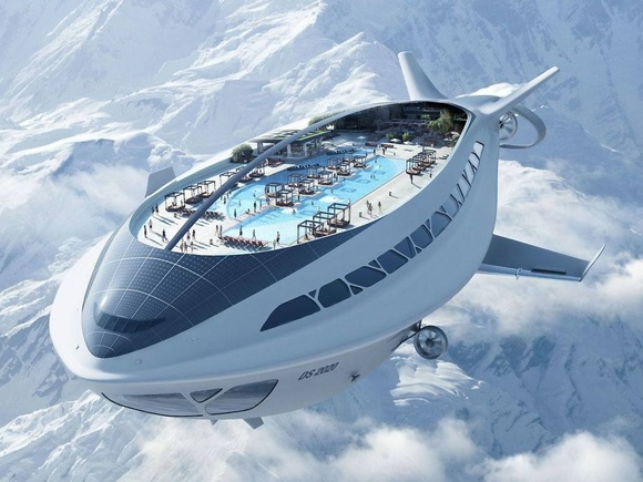 Futuristic Air Cruiseship, imagined by Dassault Systèmes