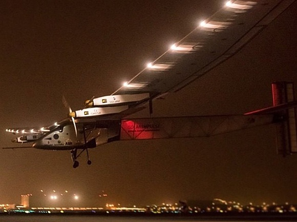 Solarimpulse lightweight landing lights system