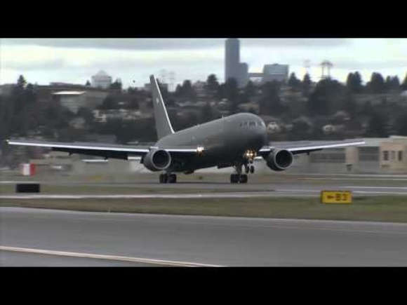 Boeing KC-46 Tanker test aircraft completes first flight