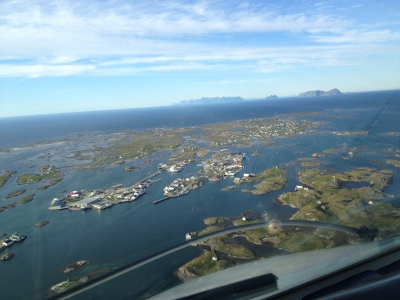 Final approach to Røst - ENRS