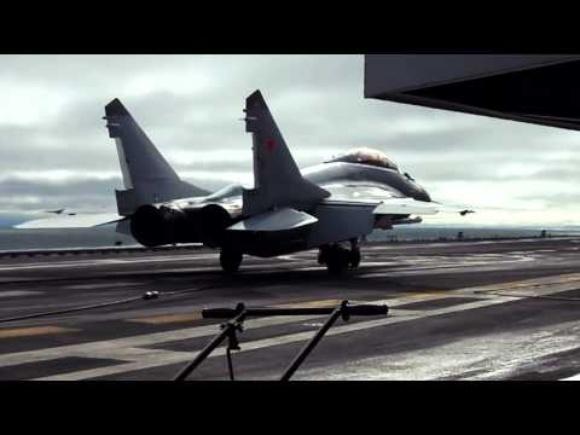 Взлет и посадка на авианосец (МиГ-29К, Ка-27)