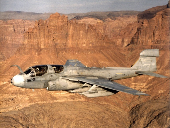 EA-6B Prowler over Saudi Arabia