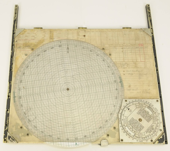 Plotting board used by Lieutenant Joseph Smith during the Battle of the Coral Sea