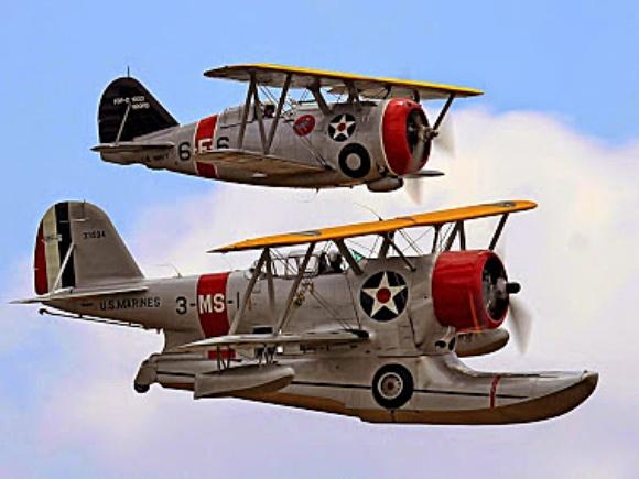 Grumman J2F Duck and Grumman F3F