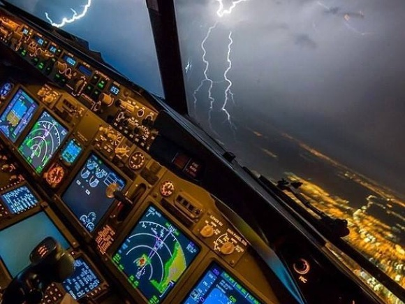 Thunderstorm in the area ...