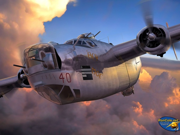 B-24 Liberator, by Ron Cole