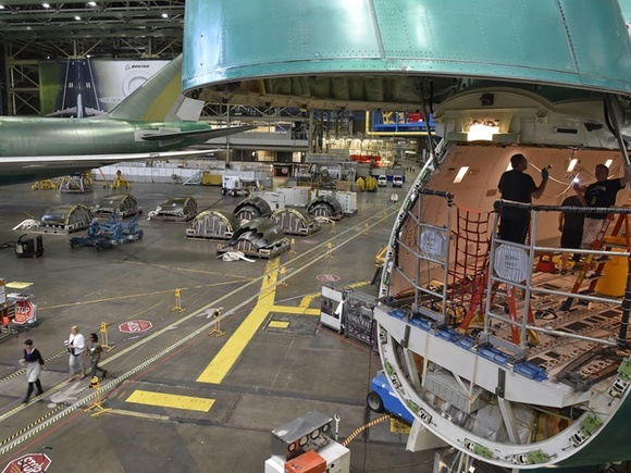 BOEING'S VIP TOUR IS BIG, REALLY BIG