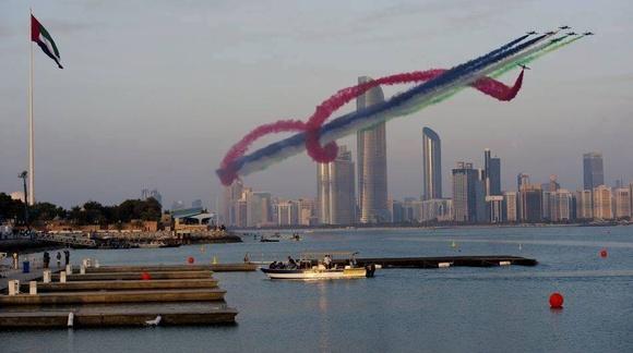 Al Fursan aerobatic team in the UAE