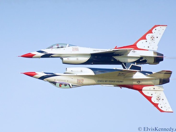 US Air Force Thunderbirds by Elvis Kennedy