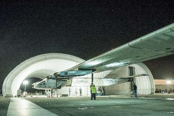 Solar plane set to make epic flight across Pacific