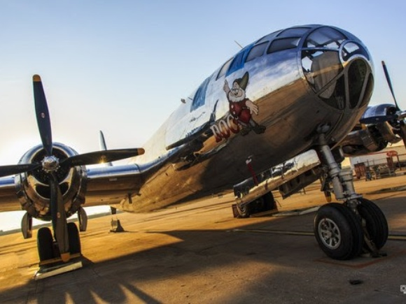 "First Flight Scheduled For B-29 ""Doc"""