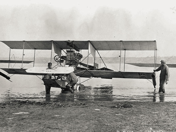 A-1 Triad hydroaeroplane at Curtiss camp on North Island, California