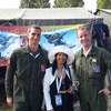 H.R.H. Princess Ubbovaldey of Cambodia at Tours air show in France, June 2015