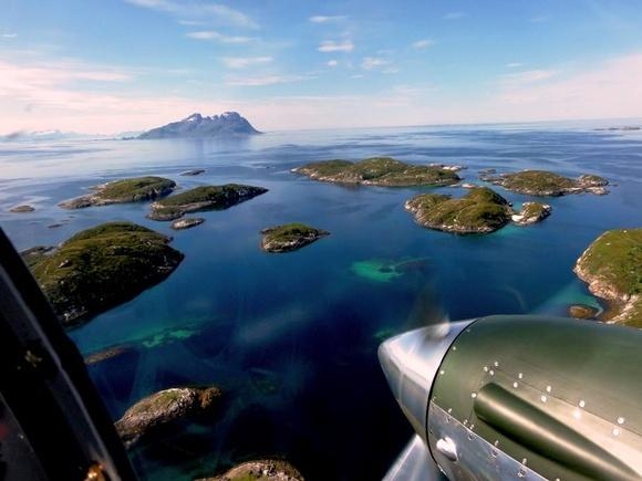 DC-6 over Northern Norway, by Raimund Riedmann