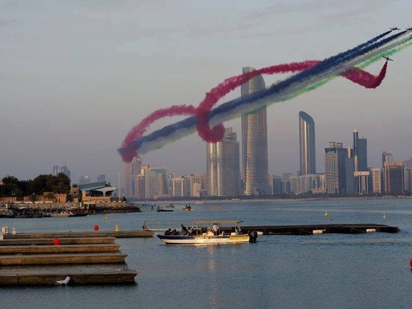 Al Fursan aerobatic team in the UAE