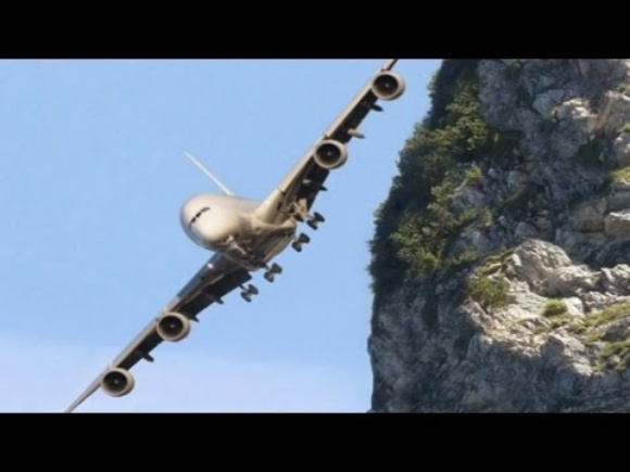 Most DANGEROUS and STRANGEST AIRPORTS in the WORLD! Most amazing & crosswind landings!! - Part 1