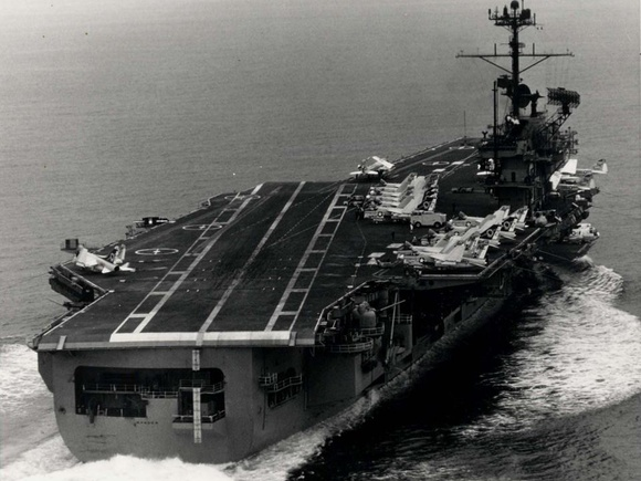 Carrier Ranger in the Pacific Ocean