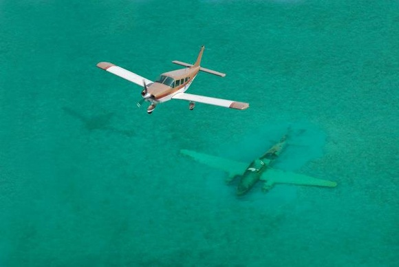 Photo - Wreckage abeam Normans Cay in the Bahamas | AviationClub